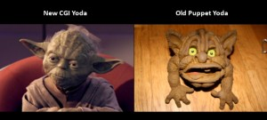 Star Wars Blu-Ray, CGI Yoda vs Old Puppet Yoda