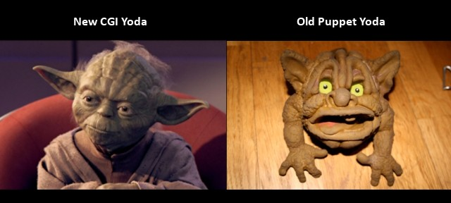 Star Wars Blu-Ray, CGI Yoda vs Old Puppet Yoda